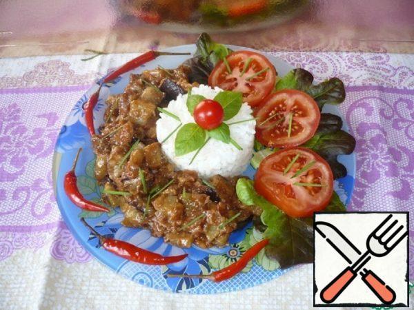 Rice with Spicy Eggplant Recipe