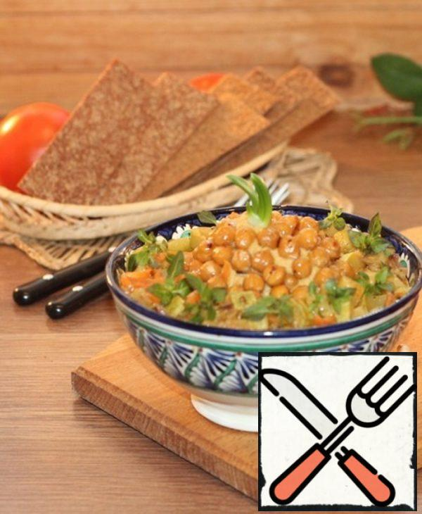 Spicy Chickpea Spread with Vegetables Recipe