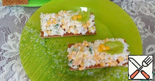 Bread Rolls with Rice Salad Recipe