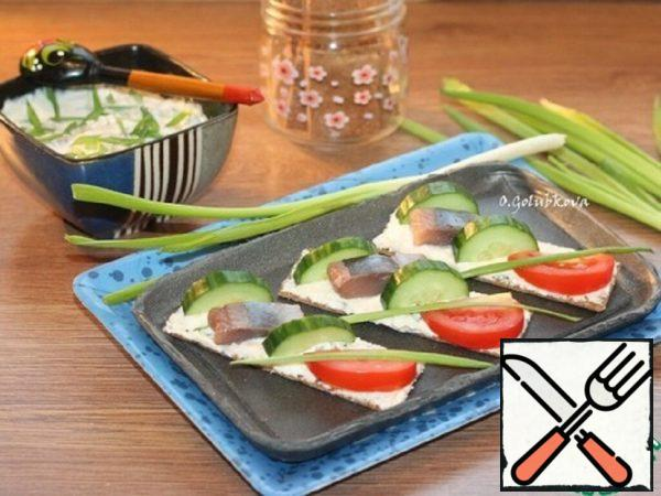 Cottage Cheese Snack with Herring Brine Recipe