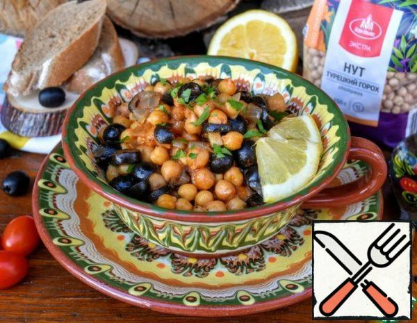 Chickpeas with Olives in Spanish Recipe