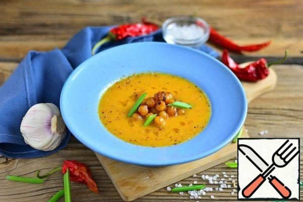 Pumpkin Soup with roasted Chickpeas Recipe