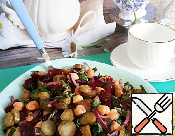 Salad with Beetroot and Chickpeas Recipe