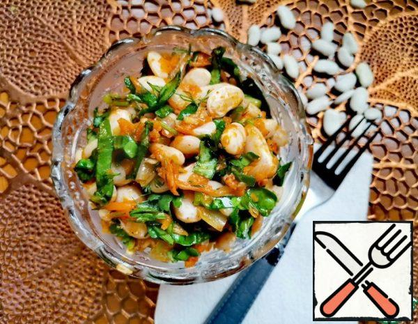 Bean Salad with Pumpkin and Spinach Recipe