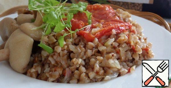Buckwheat with Garlic and Tomatoes Recipe