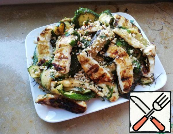 Zucchini Appetizer with Grilled Cheese Recipe