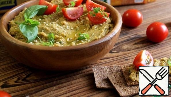 To serve hummus thin multi-grain bread Generous Sprinkle the finished hummus with sesame seeds and serve with fresh tomatoes.
