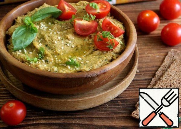 Hummus with Basil Recipe