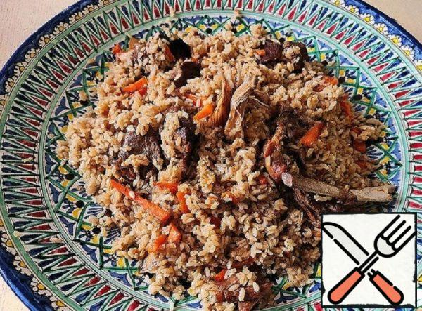 Pilaf with Lamb and Brown Rice Recipe