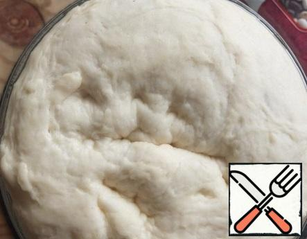 The dough came up and increased in volume.