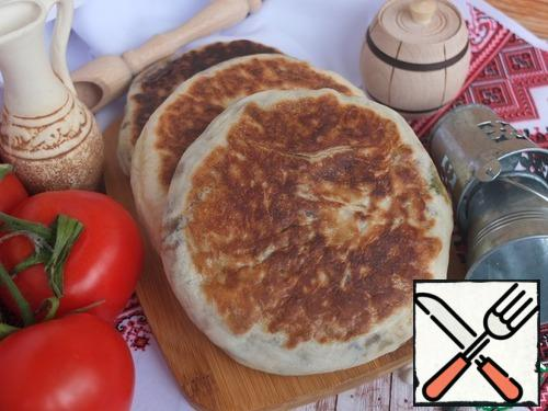 Tortillas are baked quickly.