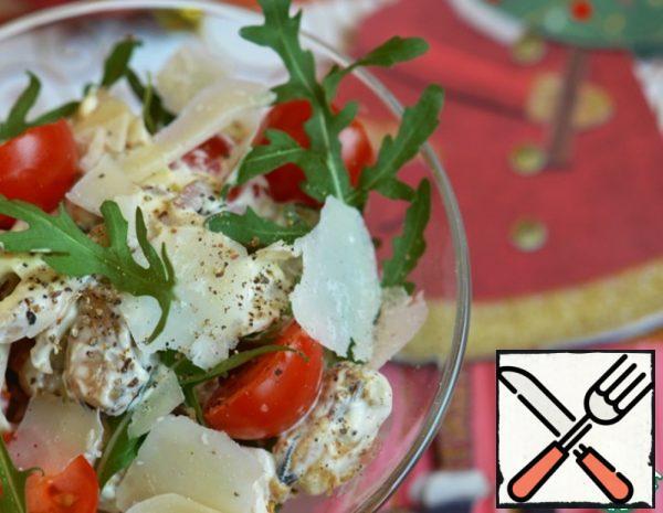 Salad with Seafood, Parmesan and Arugula Recipe