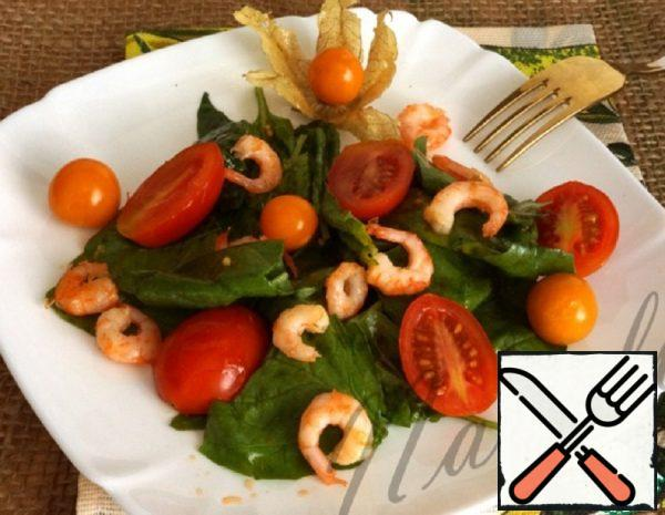 Spinach, Shrimp and Cherry Salad Recipe