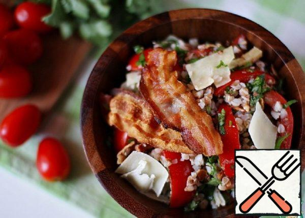 Buckwheat Salad with Tomatoes and Bacon Recipe