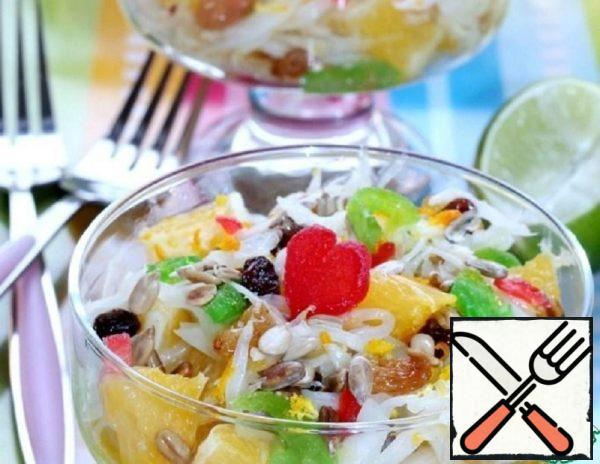 Salad with Orange, Cabbage and Lime Recipe