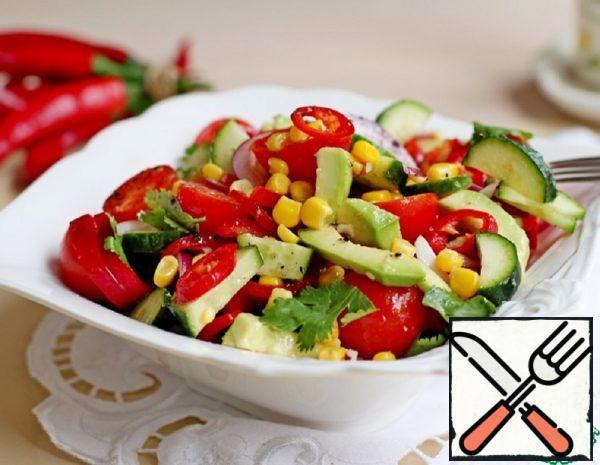 Salad with Avocado and Corn Recipe