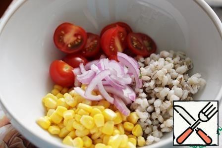 Add the chopped parsley.