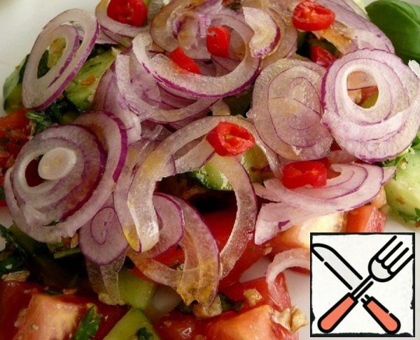 Vegetable Salad with Nuts Recipe