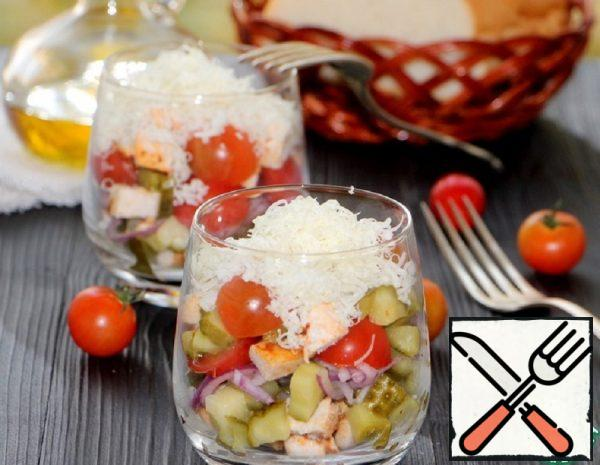 Vegetable Salad with Chicken Fillet Recipw