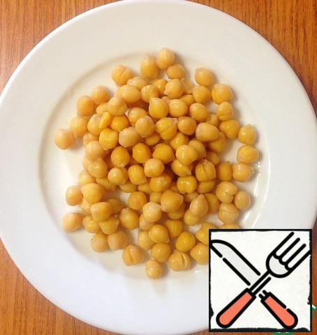 Measure out the chickpeas and mix all the above ingredients.