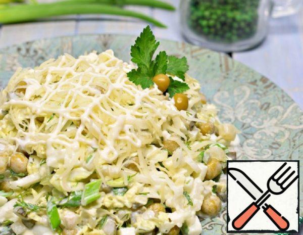 Peking Cabbage Salad with Peas Recipe