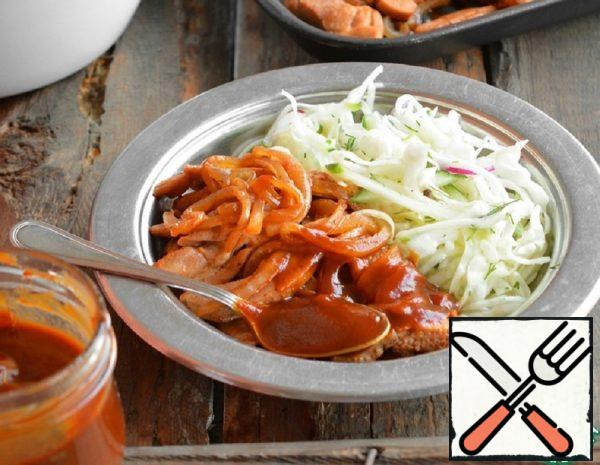 Turkey with Onions in Barbecue Sauce Recipe