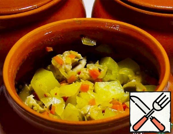 Vegetable Stew with Turkey in Pots Recipe