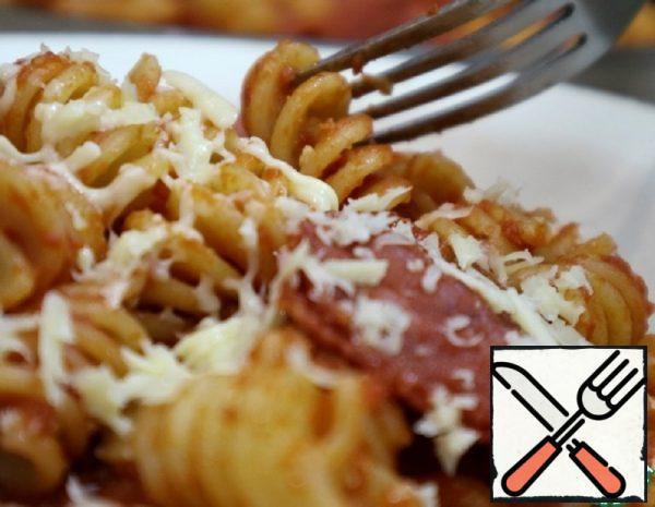 Pasta with Salami in Tomato Sauce Recipe