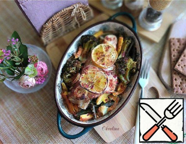 Sea Bass, Baked with Vegetables Recipe