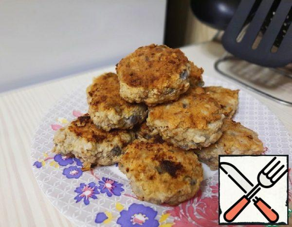 Spicy Cutlets with Eggplant Recipe