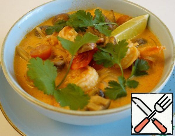 Thai Tom Yam Soup with Shrimp Recipe