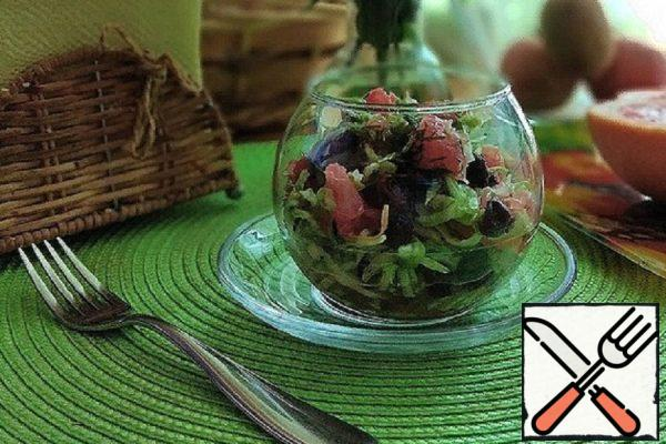 Salad with Grapefruit and  Cabbage Recipe