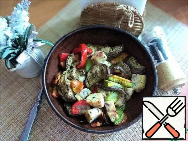 Very tasty and flavorful! Quite satisfying!This dish can be eaten according to my diet for lunch or dinner. Baked vegetables or vegetable stew-150 g Chicken breast or chicken cutlet-100 g