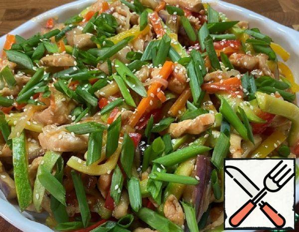 Chicken Fillet with Vegetables in Teriyaki sauce Recipe