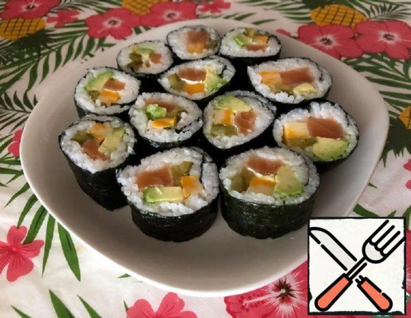 Cucumber Pickle Sushi with Salmon Recipe