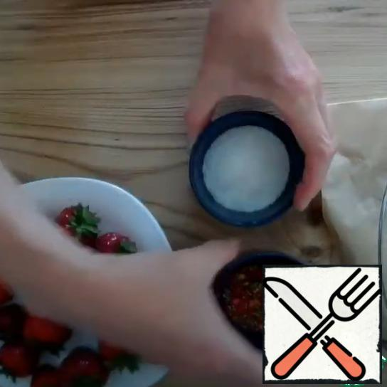 Prepare the coconut shavings and pastry sprinkles.