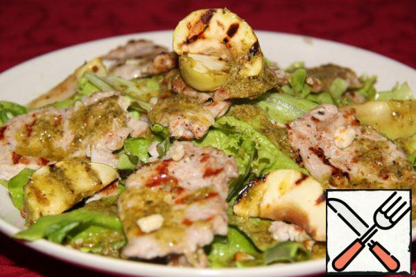 Meat Salad with a warm Apple Recipe