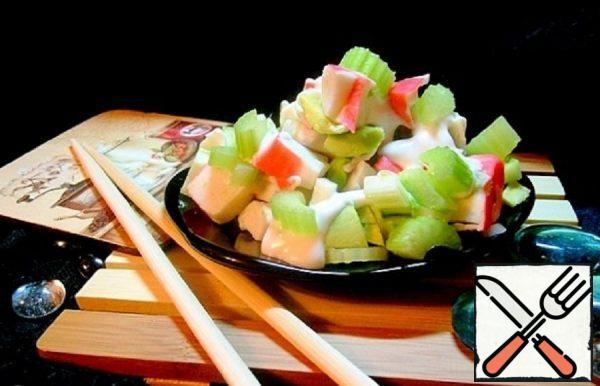 Crab Salad with Celery and Avocado Recipe