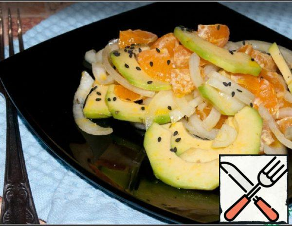 Salad with Avocado and Tangerines in Mustard oil Recipe