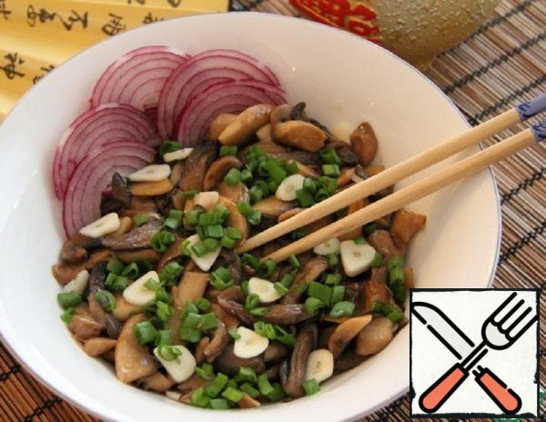 Stewed Mushrooms with Soy Sauce and Garlic Recipe