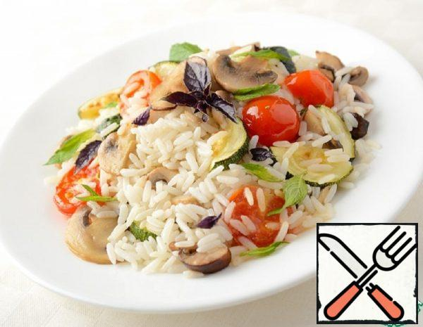 Hot rice Salad with Vegetables Recipe
