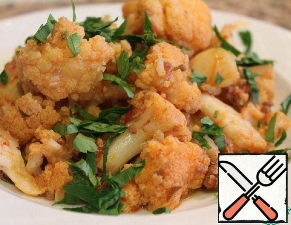 Cauliflower with Minced Meat Recipe