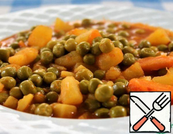 Fresh Peas with Vegetables Recipe