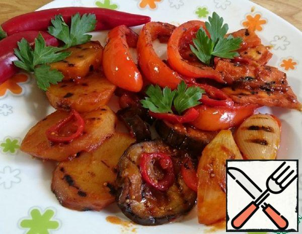 Grilled Vegetables with Chili Recipe