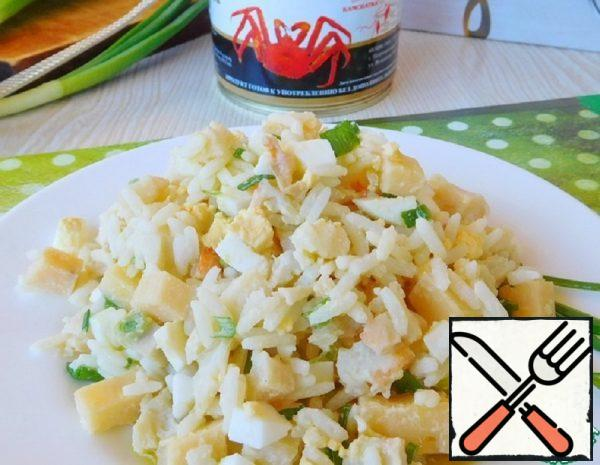 Warm Salad with Crab Meat Recipe