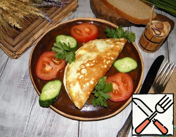 Omelet with Beef Liver and Bread Recipe