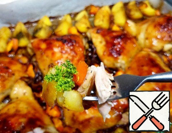 Chicken Thighs with Potatoes and Carrots Recipe