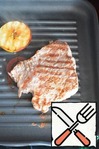 Remove the steaks from the marinade and brush each steak with butter. Cook on the grill for 5-8 minutes on each side until fully cooked. Remove the pork from the grill, cover with foil and let sit in a warm place for about 10 minutes.