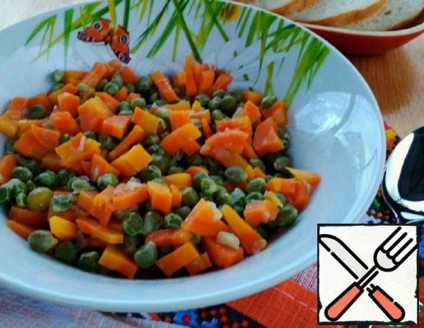 Peas with Carrots on the Side Dish Recipe