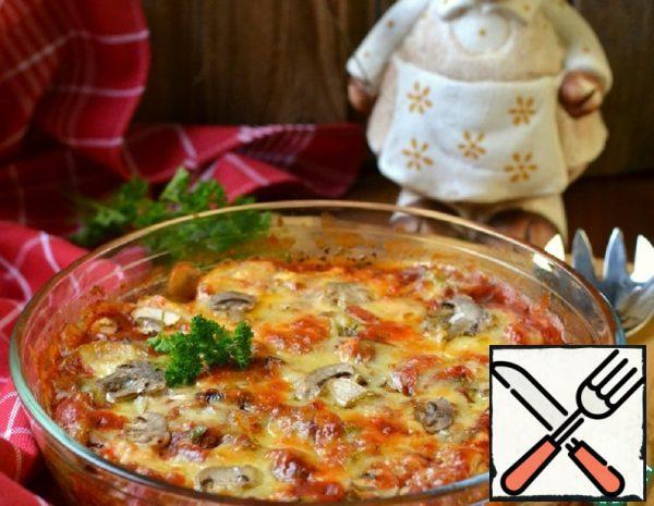 Casserole with Mushrooms and Zucchini Recipe